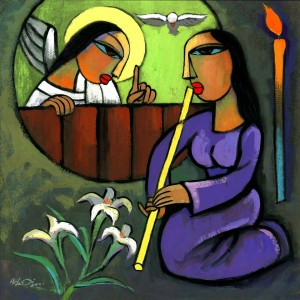 Annunciation by He Qi
